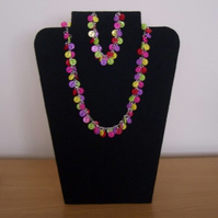 Button Necklace and Bracelet Set