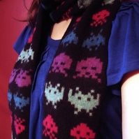 Space Invaders Scarf, v2.0
