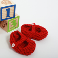 PDF Knitting Pattern for Mary Jane Baby Shoes, 0-3 months - Digital Download