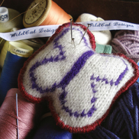 Handmade Butterfly Pin Cushion - Stitched from wool and felt