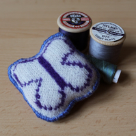 Butterfly Pincushion - Handmade from Merino Lambswool