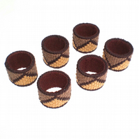 Brown, Camel and Mocha Serviette Napkin Rings