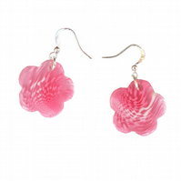Flower Earrings, Pink Earrings, Drop Earrings, Dangle Earrings, Gift for Her