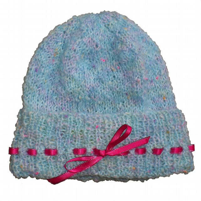 Turquoise Blue Beanie for Baby, 9-12 months