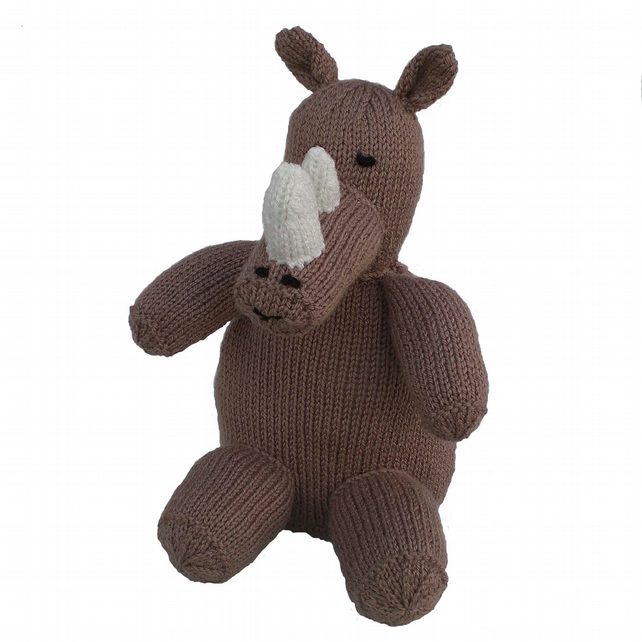 Knitted Rhino Toy