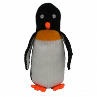 Knitted Penguin Toy, CE Tested, Child Gift, Kids Present, Collectable