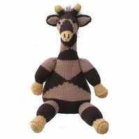 Knitted Giraffe Toy CE Tested