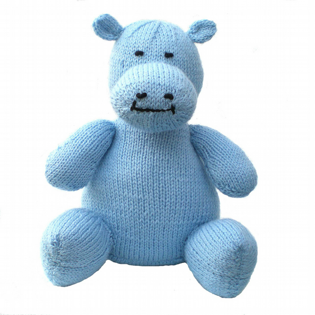 Child's Knitted Hippo Toy
