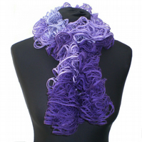 Ruffle Scarf, Violet, Purple and Mauve,  Ladies' Gift, Women Present