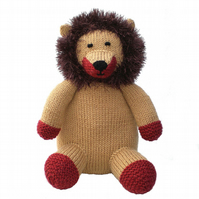 Lion Toy, Knitted Toy, Stuffed Toy, Soft Toy, CE Tested Toy, Collector's Item