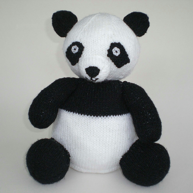 Knitted Panda Toy, Knitted Toy, Soft Toy, CE Tested Toy, Baby Shower Gift