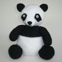 Knitted Panda Toy, CE Tested, Child Gift, Kids Present, Collectable