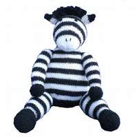 Knitted Zebra Toy, CE Tested, Child Gift, Kids Present
