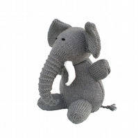 Knitted Elephant Toy, CE Tested, Child Gift, Kids, Babies Present