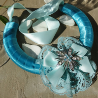 Wedding Horseshoe - Vintage Teal