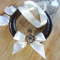 Wedding Horseshoe - Vintage Ivory