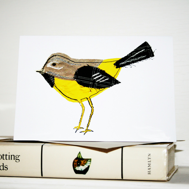 grey wagtail card eco