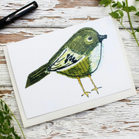goldcrest bird card