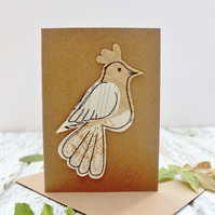 eco sewn bird card