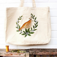 eco bird tote bag