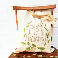 eco 'plant powered' tote bag