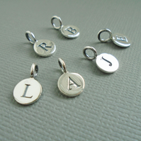 Sterling Silver Initial Charms for Prenoa Items
