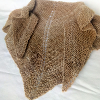 Hand Knitted Alpaca Neck Shawl