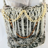 Hand Knitted Shoulder Bag