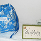 LOVELY FLOWERED DRAWSTRING TOILETRY BAG