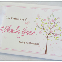 PERSONALISED- BLOSSOM TREE-CHRISTENING- NAMING DAY- SCRAPBOOK ALBUM- GUEST BOOK