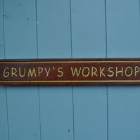 grumpy's workshop shed sign