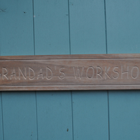 grandad's workshop shed sign