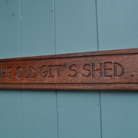 Hardwood workshop shed sign