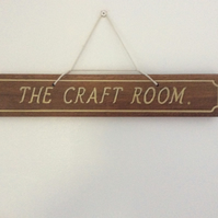hardwood hanging sign
