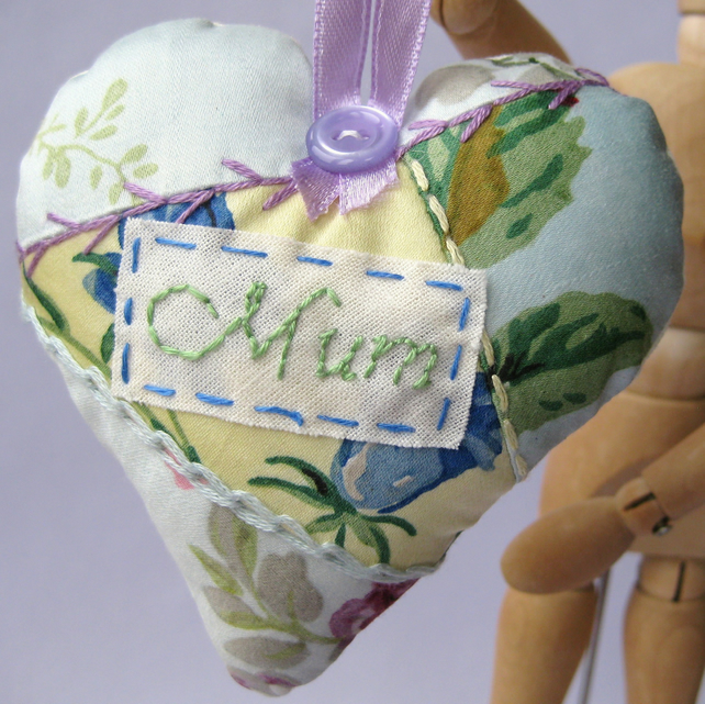 Blue & Green Personalised Heart