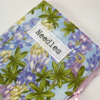 Sewing Needle Wallet Purple Lupins Fabric