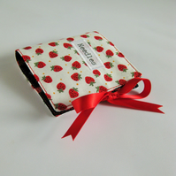 Sewing Needle Case with Strawberry Print