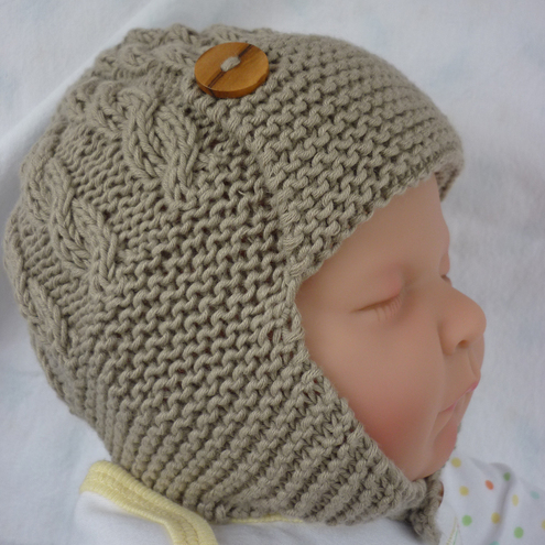 Knitting Pattern Central Baby Hats : BABY AVIATOR HAT FREE KNITTING PATTERN   KNITTING PATTERN