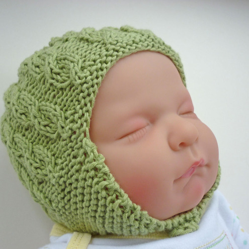 Knitting Patterns Baby Cable Hats : Knitting Pattern PDF Baby Hat with earflaps and... - Folksy