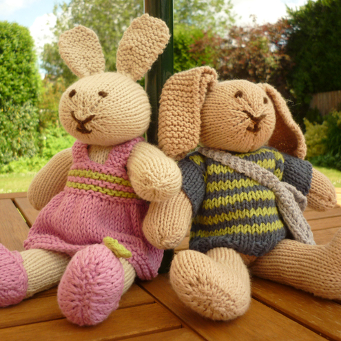 Knitting Patterns For Toy Rabbits : Bunny Rabbit Soft Toy Knitting Pattern - Robert... - Folksy