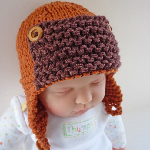 aviator hat knitting pattern pdf curtiss folksy baby aviator hat free