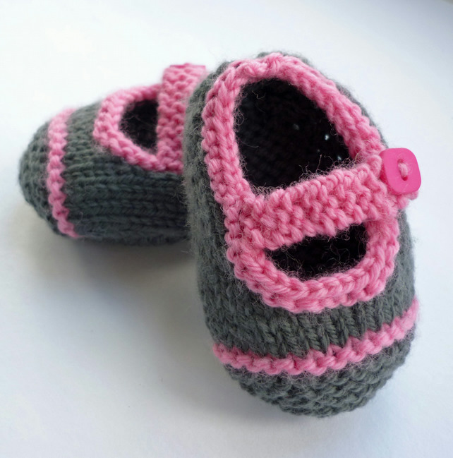 Knitting Pattern - Baby Shoes with Single Strap... - Folksy