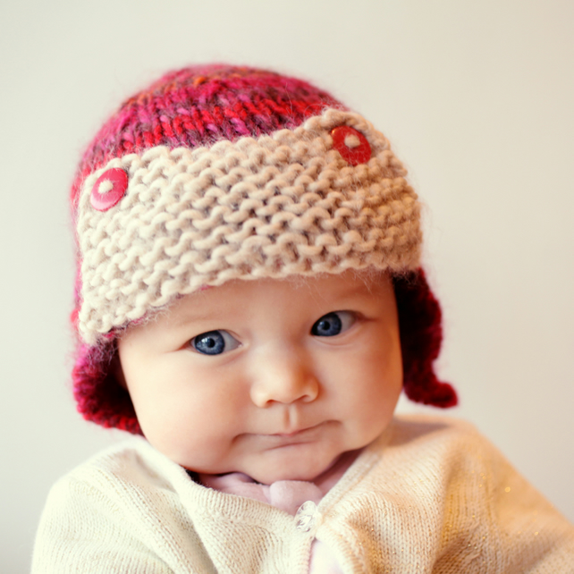 Baby Aviator Hat Knitting Pattern pdf - CURTISS - Folksy