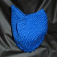 Hand knitted babies, tri corner hat