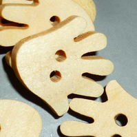 Wooden hand buttons  set of 5
