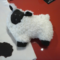 Hand made soft fluffy sheep toy