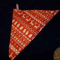 Dog bandanas -christmas design - red skandanavian look