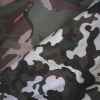 Camoflage print fabric fat quarter