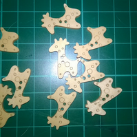 Little wooden giraffe buttons  set of 6