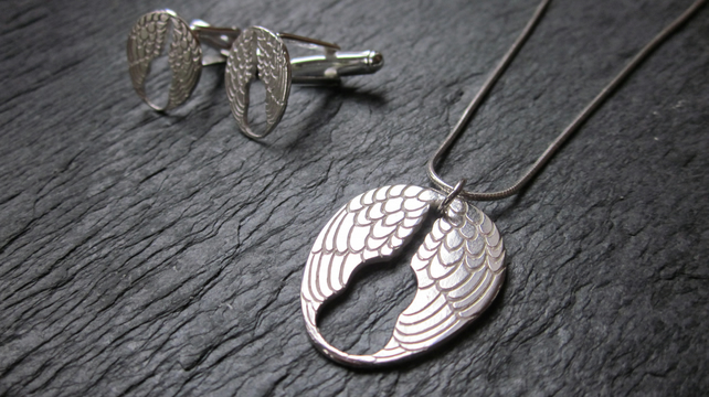 Lisbee Stainton 'Wings' Sterling Silver Pendant Necklace